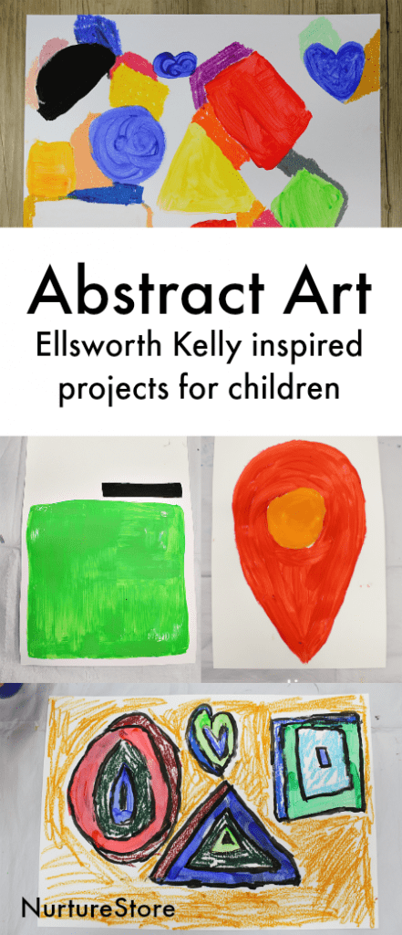 Ellsworth Kelly abstract art project for children, what is abstract art, minimalism art project for children,