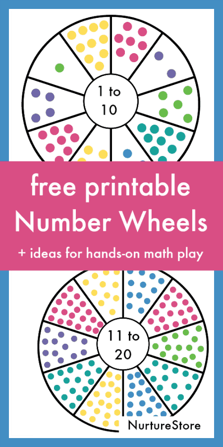 Printable Number Wheel Cards NurtureStore