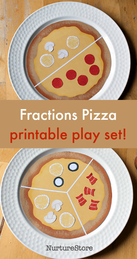 pizza fractions printable pizza parlour set