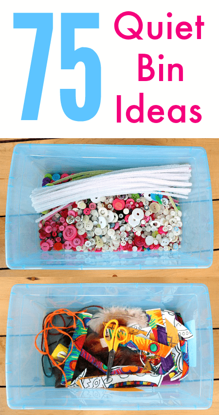 75+ easy quiet bin ideas for toddler and preschoolers - independent play ideas - preschool activity centers