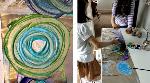 Simple Art Ideas Painting On Foil Nurturestore