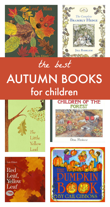 The best autumn books for children - great fall book list for children, inc children's books about pumpkins and leaves