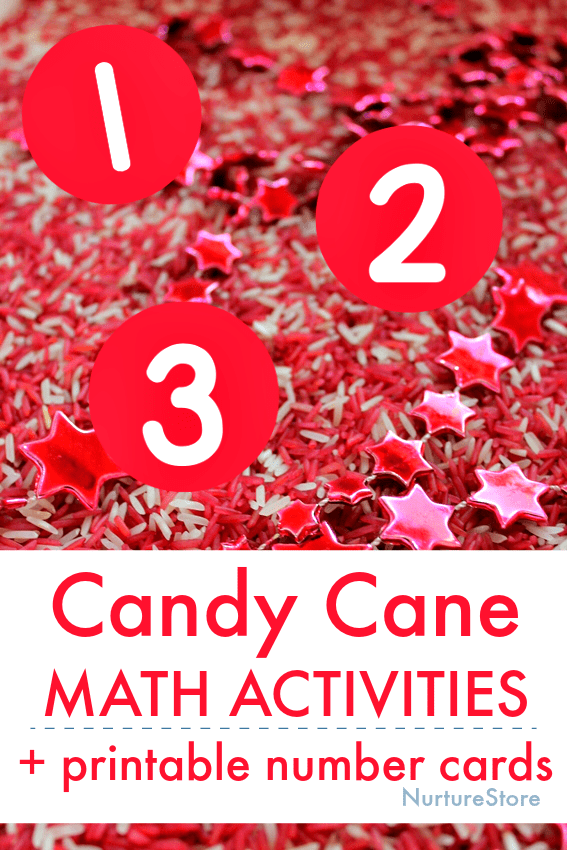 candy cane math activities printable number cards