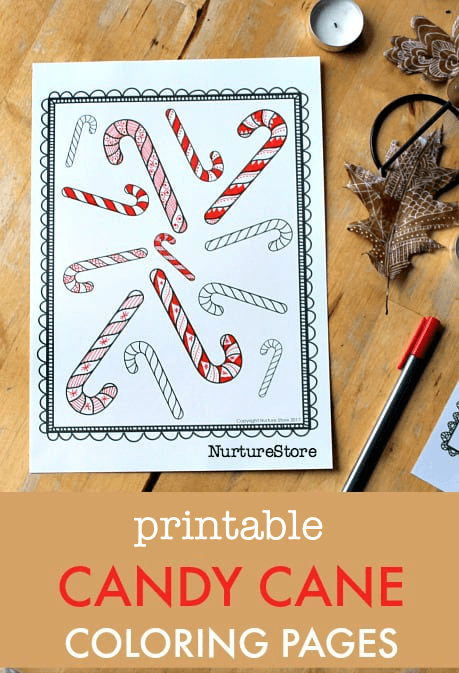 printable candy can coloring pages, christmas zentangle colouring sheets