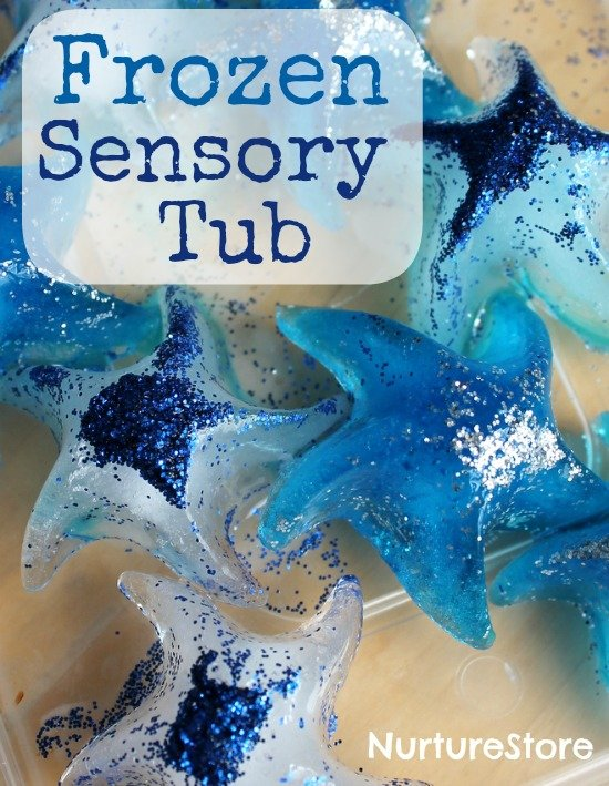 Frozen sensory tub - plus extra frozen activities