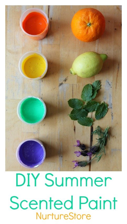 How to make scented paint - a great sensory recipe for kids