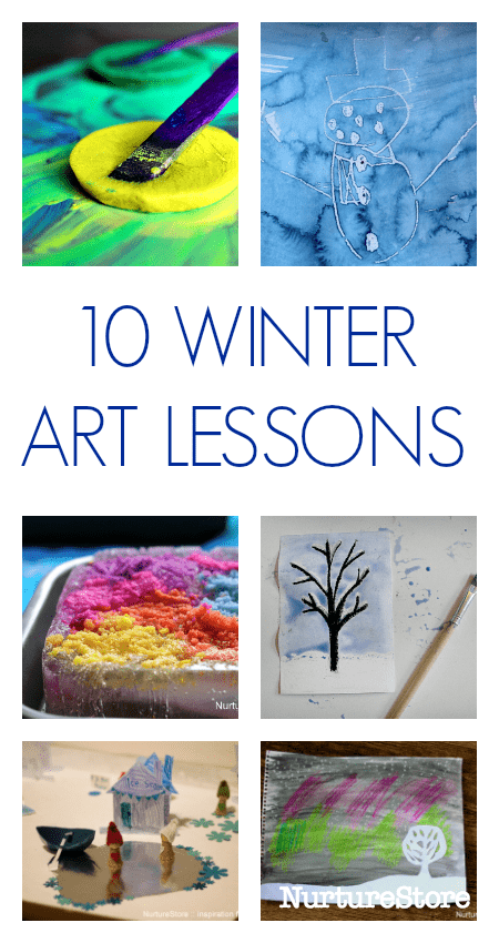 winter art lesson plans for elementary, winter art projects for children
