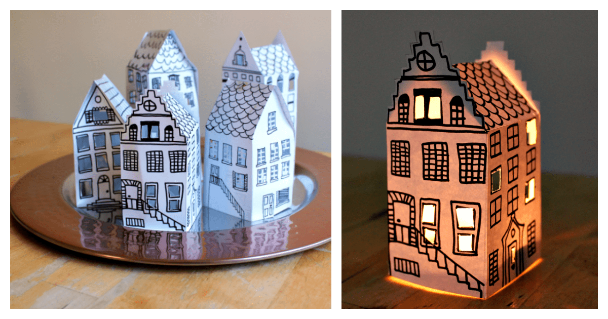 paper craft store beautiful and easy paper house lantern free printable 2618
