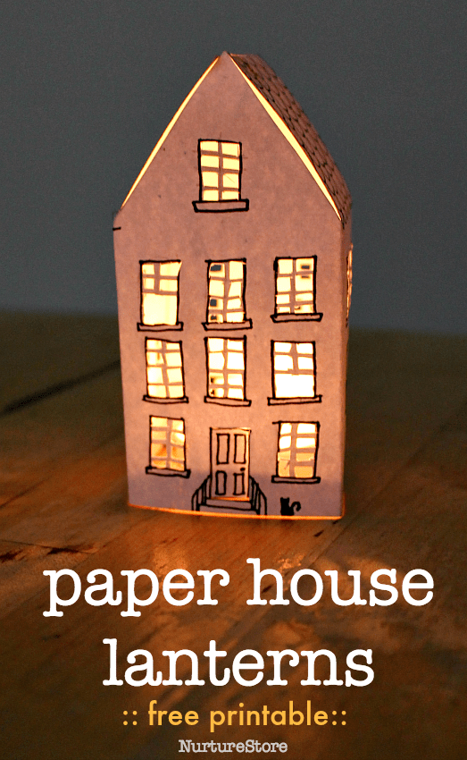 photograph regarding Printable House known as Interesting and simple paper Place lantern - free of charge printable
