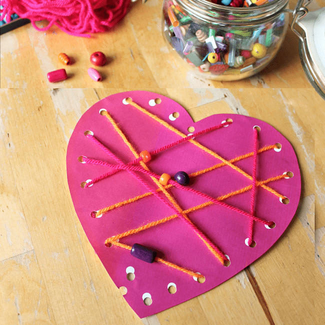 lacing hearts craft