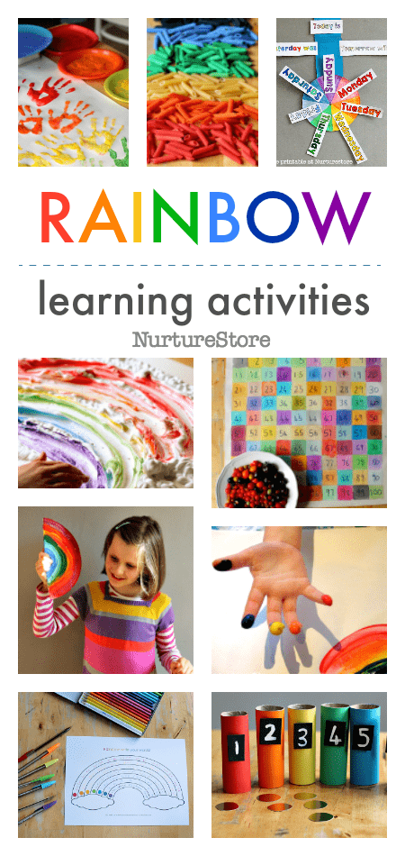 rainbow activities math literacy unit