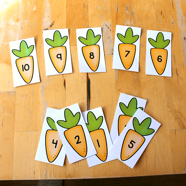 carrot number printable