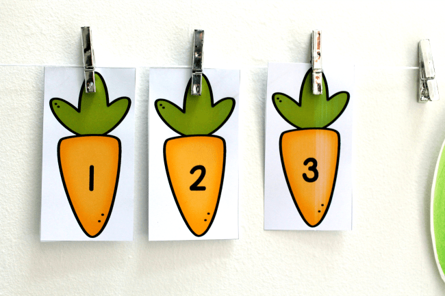 carrot spring theme number line