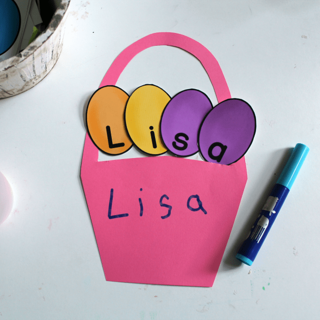 easter theme name activity printable