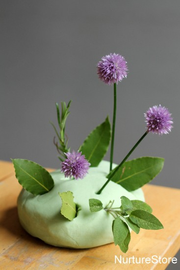 play dough with herbs