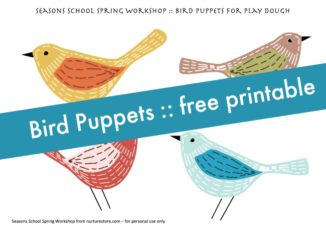 bird puppet printable