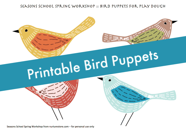 printable bird puppets
