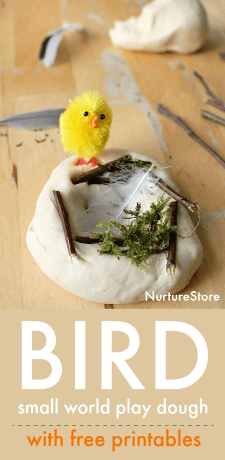 bird small world play dough