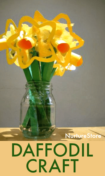 easy daffodil craft with contact paper