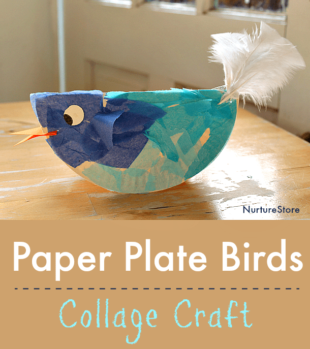 easy paper plate bird craft for kids