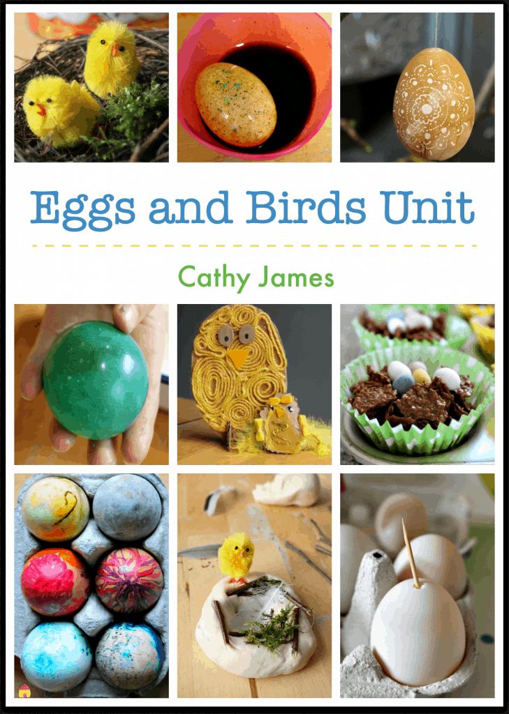 Eggs unit, birds unit, spring lesson plans for nature study