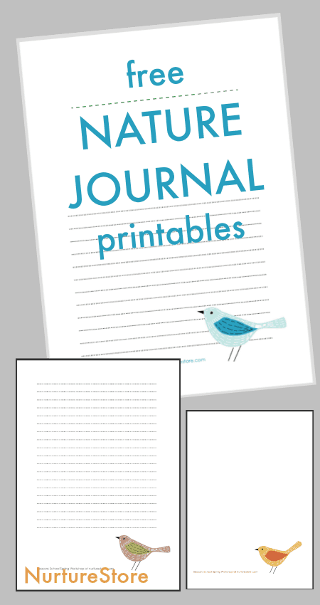 free nature journal pages printables