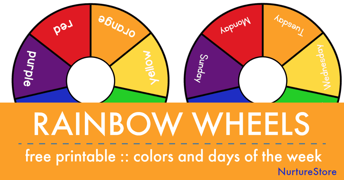 photograph regarding Printable Colors known as Printable rainbow times of the 7 days and shade wheels