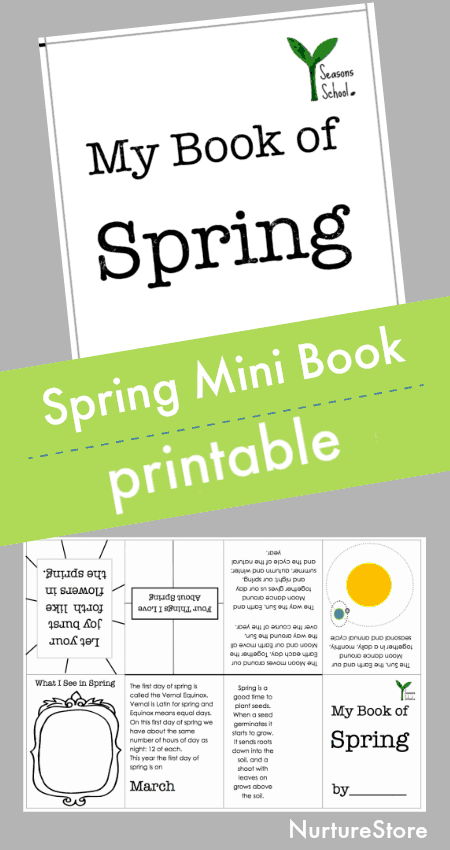 Printable spring lapbook, homeschool lesson about spring