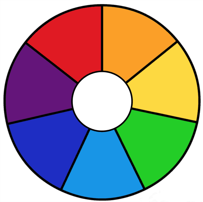 rainbow wheel printable