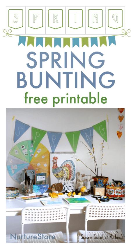spring bunting craft spring banner printable