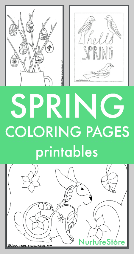 photograph about Printable Spring Coloring Pages identified as Spring coloring sheets printables for young children - NurtureStore
