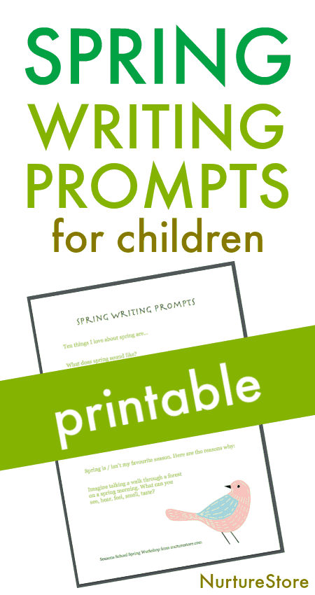 spring creative writing prompts for children printable