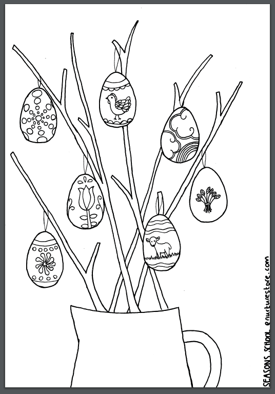 Spring coloring sheets printables