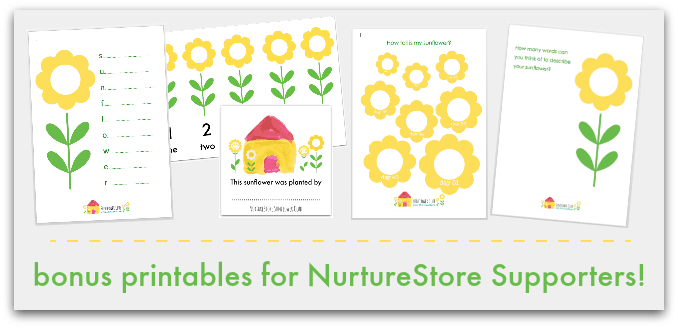 bonus sunflower printables 3d
