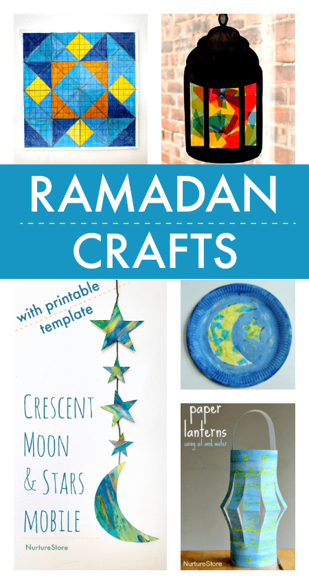 easy ramadan crafts for children, eid crafts for kids