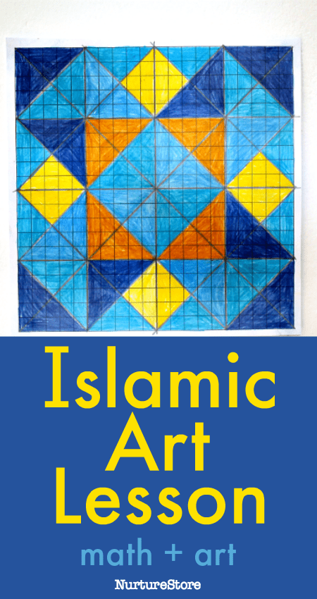 islamic art lesson for children, geometric art lesson for kids,