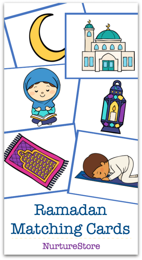 ramadan printable for children matching picture cards