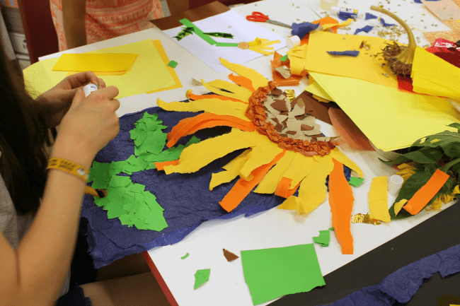 Sunflower art project for children