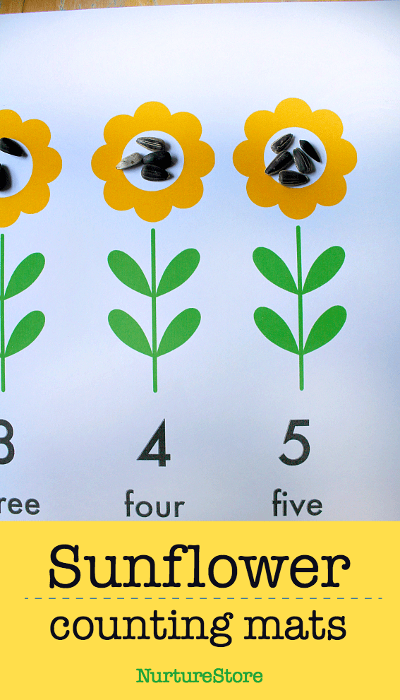graphic about Sunflower Printable known as Printable sunflower variety mats :: sunflower math match