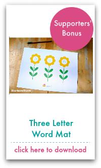 three letter word mat