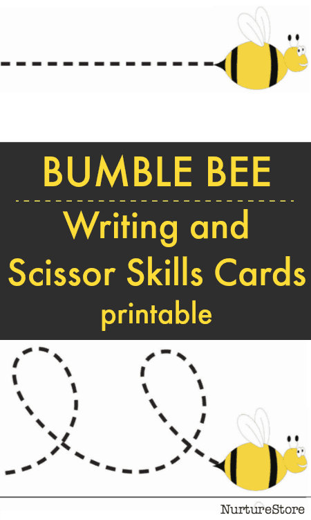 bee line tracing scissor skills cutting cards