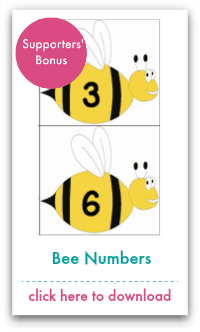 Bee Number Cards