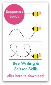 Bee Writing and Scissor Skills