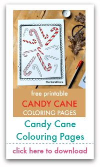 candy cane colouring pages