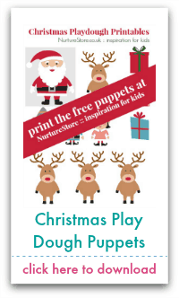 christmas play dough puppets