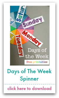 days of the week spinner