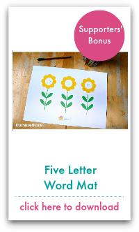 five letter word mat