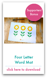 four letter word mat