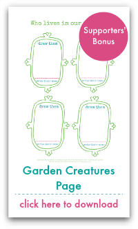 Garden Creatures Page
