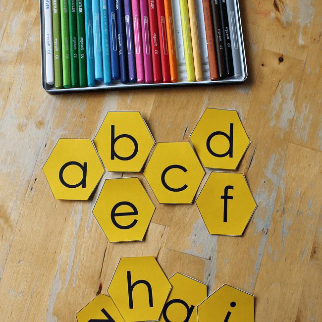 honeycomb alphabet printable sq